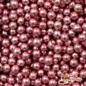 Perełki Różowe nabłyszczane 4 mm
