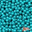 Perełki Niebieskie nabłyszczane 4 mm