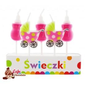 Świeczki Pikery Baby Pink 5 szt