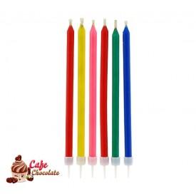 Świeczki Kolorowe Niegasnące 6 szt