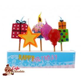 Świeczki Pikery Urodziny 5 szt
