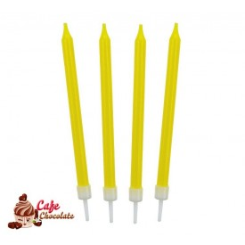 Świeczki Neonowe Żółte 10 szt
