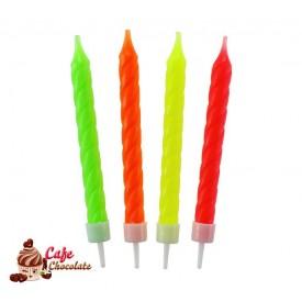 Świeczki Mix Fluorowe 8 szt