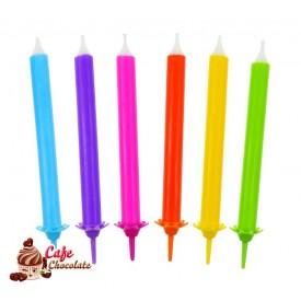 Świeczki Mix Tęczowe 12 szt