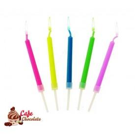 Świeczki Kolorowe Płomienie 5 szt
