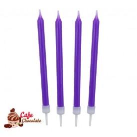 Świeczki Neonowe Fioletowe 10 szt