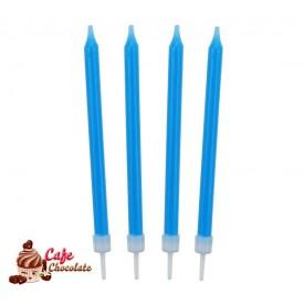 Świeczki Neonowe Niebieskie 10 szt