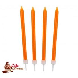 Świeczki Neonowe Pomarańczowe 10 szt
