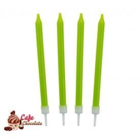 Świeczki Neonowe Zielone 10 szt