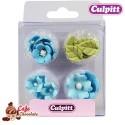 Kwiatki i Listki Niebieskie 16 szt Culpitt