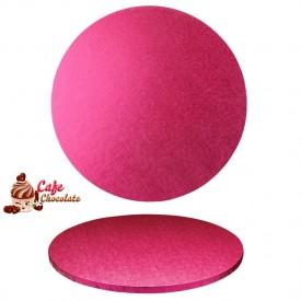 Gruba Tacka Różowa Okrągła 25 cm