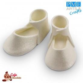Buciki Cukrowe Białe Perłowe 2 szt PME