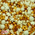 Konfetti Mix Świąteczny Złoty 45g