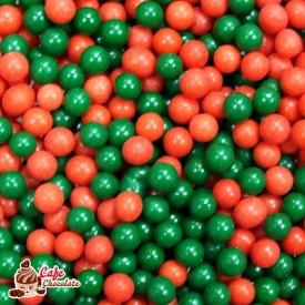 Perełki Mix Czerwono Zielone nabłyszczane 5 mm