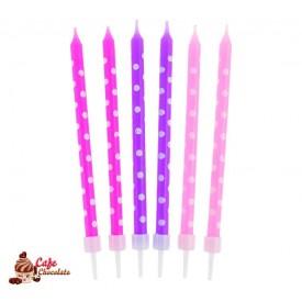 Świeczki Grochy dla dziewczynek 24 szt