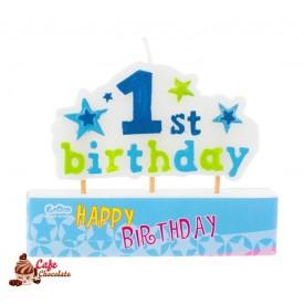 Świeczka Piker 1st Birthday Niebieska