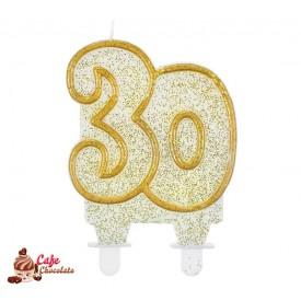 Świeczka 30 Złoty Kontur