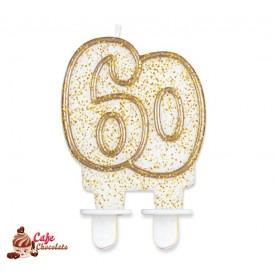 Świeczka 60 Złoty Kontur