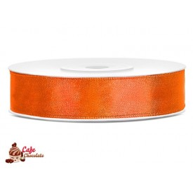 Tasiemka satynowa Pomarańczowa Neonowa 12 mm 25 m