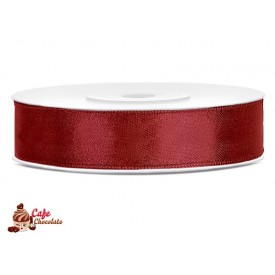 Tasiemka satynowa Czerwona Ciemna 12 mm 25 m