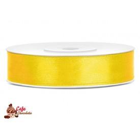 Tasiemka satynowa Żółta 12 mm 25 m