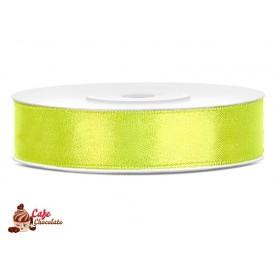 Tasiemka satynowa Zielona Neonowa 12 mm 25 m