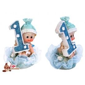Chłopiec pierwsze urodziny Niebieska 7 cm