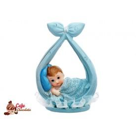 Chłopiec na chuście Niebieska 11 cm