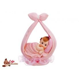 Dziewczynka na chuście Różowa 11 cm