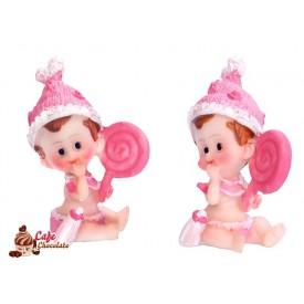 Dziewczynka z lizakiem Różowa 5 cm