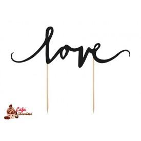 Topper Love Czarny 17 cm