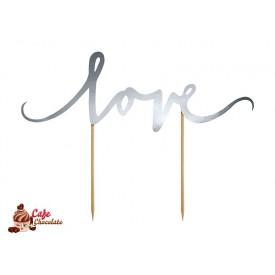 Topper Love Srebrny 17 cm
