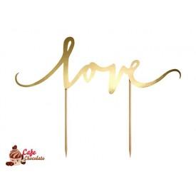 Topper Love Złoty 17 cm