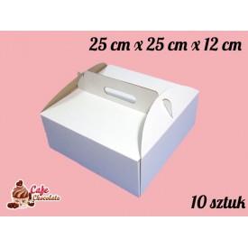 Karton na tort 25x25x12 cm 10 szt