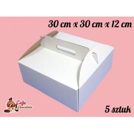 Karton na tort 30x30x12 cm 5 szt