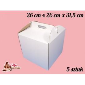 Karton na tort 26x26x31,5 cm 5 szt