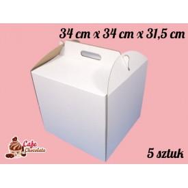 Karton na tort 34x34x31,5 cm 5 szt