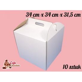 Karton na tort 34x34x31,5 cm 10 szt