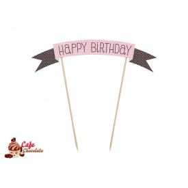 Topper Girlanda Happy Birthday 19 cm