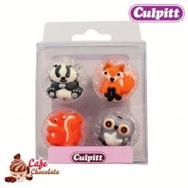 Dekoracje Leśne Zwierzęta 12 szt Culpitt