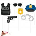 Zestaw Policyja 6 elementów