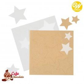 Gwiazdki Białe i Złote z papieru cukrowego 18 szt Wilton