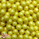 Perełki Żółte Perłowe nabłyszczane 5 mm