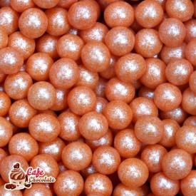 Perełki Pomarańczowe Perłowe nabłyszczane 5 mm
