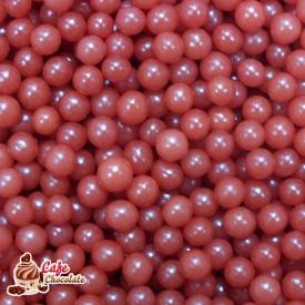 Perełki Bordowe Perłowe nabłyszczane 4 mm