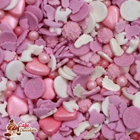 Konfetti Mix Dziecięcy Różowy 45g