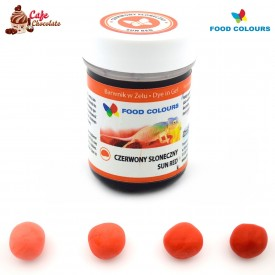 Food Colours Barwnik żel Czerwony Słoneczny 35g