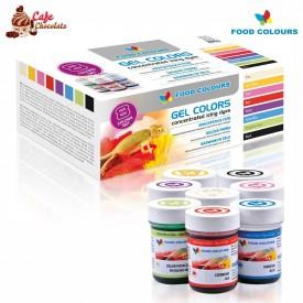 Food Colours Zestaw Barwników w Żelu 8 x 35g