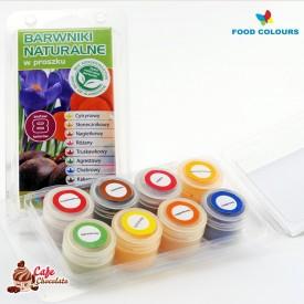 Food Colours Barwniki Naturalne Zestaw 8 x 3g