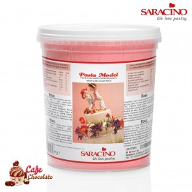 Masa Do Modelowania Saracino Różowa 1kg